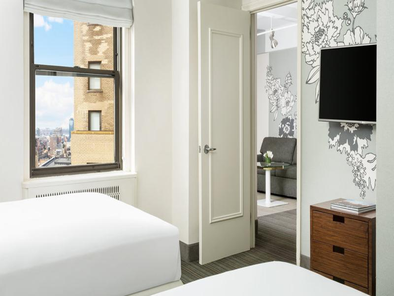 one bedroom suite two double beds accessible